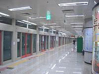 光州地下鉄の駅ホーム