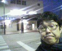 武生新駅前にて