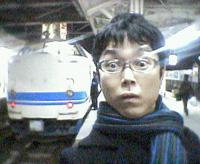 武生駅ホームにて