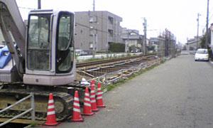八ツ島駅工事の様子