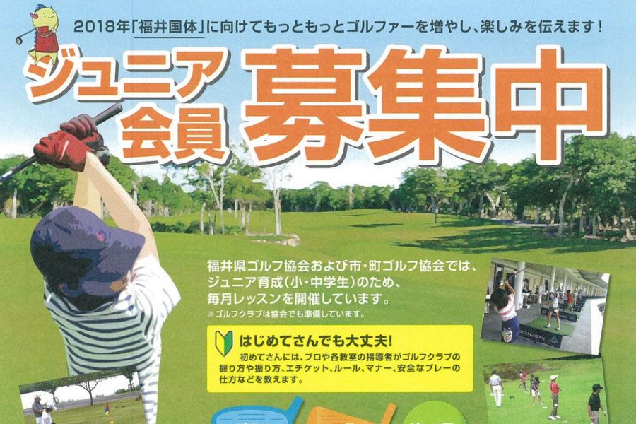 チラシ&ポスター『福井県ゴルフ協会 ジュニア会員募集』